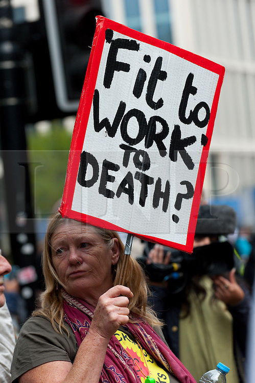 © Licensed to London News Pictures. 05/10/2015. Manchester, UK. A week of pro-peace, anti-austerity, anti-war, anti-Tory, protests dubbed 'Take Back Manchester' has been  organised by The People's Assembly and timed to coincide with the Conservative Party Conference in Manchester on 4th - 7th Oct 2015. Over 40 events are planned, including a speech by new Labour leader Jeremy Corbyn timed to compete with closing speech of Tory leader David Cameron. Photo credit: Graham M. Lawrence/LNP
