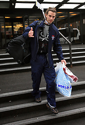 Gregor Poloncic at Slovenian National team packing and going from Citadel Hotel to the Halifax airport, when they finished with games at IIHF WC 2008 in Halifax, on May 11, 2008, Canada. (Photo by Vid Ponikvar / Sportal Images)