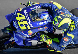 October 26, 2018 - Melbourne, Victoria, Australia - Italian rider VALENTINO ROSSI (#46) of Movistar Yamaha MotoGP in action during day 2 FREE PRACTICE of the 2018 Australian Grand Prix held at Phillip Island, Australia. (Credit Image: © Theo Karanikos/ZUMA Wire)