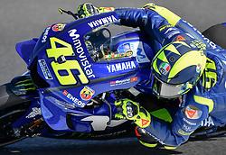 October 26, 2018 - Melbourne, Victoria, Australia - Italian rider VALENTINO ROSSI (#46) of Movistar Yamaha MotoGP in action during day 2 FREE PRACTICE of the 2018 Australian Grand Prix held at Phillip Island, Australia. (Credit Image: © Theo Karanikos/ZUMA Wire)