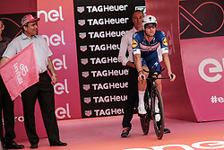 May 4, 2018 - Jerusalem, Israel - First rider to start, Italian FABIO SABATINI, sets out for the 9.7Km Jerusalem Individual Time Trial Stage 1. The 101st edition of Giro d'Italia, the Corsa Rosa, begins today in Jerusalem, history being made with the first ever Grand Tour start outside of Europe. (Credit Image: © Nir Alon via ZUMA Wire)