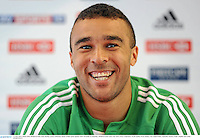 14 June 2013; Simon Zebo, British & Irish Lions, during a press conference ahead of their game against NSW Waratahs on Saturday. British & Irish Lions Tour 2013, Press Conference, North Sydney Oval, Sydney, New South Wales, Australia. Picture credit: Stephen McCarthy / SPORTSFILE