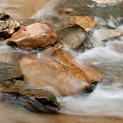 Stream in Franconia Notch State Park, New Hampshire