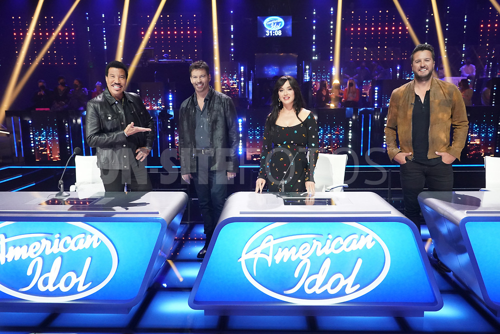 """AMERICAN IDOL – """"415 (The Comeback)"""" – A special episode of """"American Idol"""" featuring """"comeback contestants"""" airs MONDAY, APRIL 19 (8:00-10:00 p.m. EDT), on ABC. (ABC/Eric McCandless)<br /> LIONEL RICHIE, HARRY CONNICK JR., KATY PERRY, LUKE BRYAN"""
