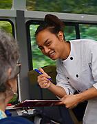 Rocky Mountaineer train, luxury food service, BC, Canada