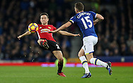 Tom Cleverley of Everton and Ander Herrera of Manchester United during the Premier League match at Goodison Park, Liverpool. Picture date: December 4th, 2016.Photo credit should read: Lynne Cameron/Sportimage