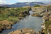 Oxara River Pingvellir national park, Iceland