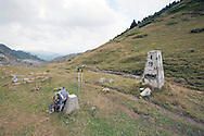 Old border marker on the Borit Pass, on the border between Albania and Montenegro © Rudolf Abraham