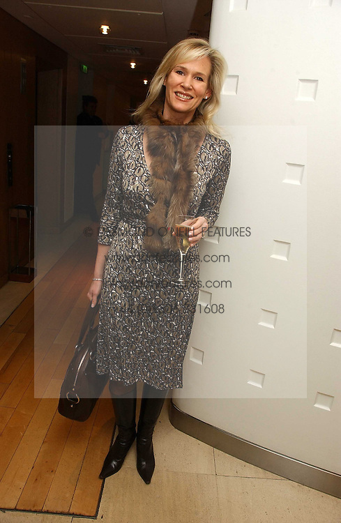 TIA GRAHAM at a lunch hosted by Fawaz Gruosi to celebrate the launch of De Grisogono's latest watch 'Be Eight' held at Nobu, 19 Old Park Lane, London W1 on 30th November 2006.<br /><br />NON EXCLUSIVE - WORLD RIGHTS
