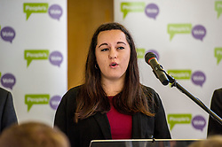 Pictured: Georgie Harris<br /> Scottish launch of the campaign for people across the UK to have the final say on Brexit in a 'People's Vote'. Moderated by the incoming chair of the Chair of the European Movement in Scotland, Mark Lazaowicz, speakers included Dr Kirsty Hughes, director of the Scottish Centre on European Relations; Georgie Harris, Vice President Community of the University of Edinburgh Studenst Association and John Edward, former head of the European Parliament Office in Scotland. <br /> <br /> Ger Harley | EEm Date