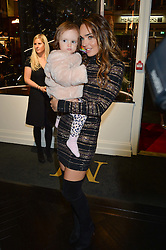 TAMARA ECCLESTONE -RUTLAND and her daughter SOPHIA RUTLAND at a party to celebrate the launch of the Maddox Gallery at 9 Maddox Street, London on 3rd December 2015.