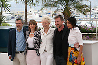 Luciano Monteaguido, Sylvie Pras, Tonie Marshall, Tim Roth, Leila Bekhti, The Jury Un Certain Regard at the 65th Cannes Film Festival. Photocall on Saturday 19th May 2012 in Cannes Film Festival, France.