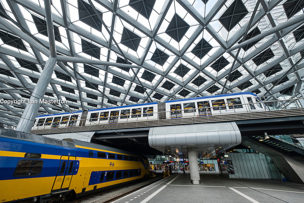 Interior of Den Haag Central railway station after modernisation in The Hague, Netherlands