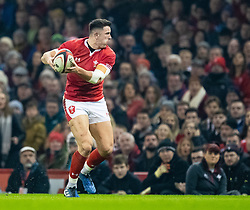 Owen Watkin of Wales<br /> <br /> Photographer Simon King/Replay Images<br /> <br /> Friendly - Wales v Barbarians - Saturday 30th November 2019 - Principality Stadium - Cardiff<br /> <br /> World Copyright © Replay Images . All rights reserved. info@replayimages.co.uk - http://replayimages.co.uk