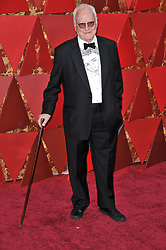 James Ivory walking on the red carpet during the 90th Academy Awards ceremony, presented by the Academy of Motion Picture Arts and Sciences, held at the Dolby Theatre in Hollywood, California on March 4, 2018. (Photo by Sthanlee Mirador/Sipa USA)