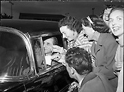 06/06/1957<br /> 06 June 1957<br /> <br /> Daily Express - Sir John Barbirolli at Dublin Airport<br /> <br /> <br /> Over a period of nearly 18 years the Dublin choir, Our Lady's Choral Society, enjoyed a close relationship with Sir John Barbirolli he regularly visited Dublin to work with them.<br /> <br /> Sir John Barbirolli (02/12/1899 – 29/07/1970) was an English conductor and cellist. Born in London, of Italian and French parentage, he grew up in a family of professional musicians. His father and grandfather were violinists. Barbirolli was the first of the family to become a conductor.<br />Barbirolli is remembered above all as conductor of the Hallé Orchestra in Manchester, which he helped save from dissolution in 1943 and conducted for the rest of his life. Earlier in his career he was Arturo Toscanini's successor as music director of the New York Philharmonic, serving there from 1936 to 1943. He was also chief conductor of the Houston Symphony from 1961 to 1967, and was a guest conductor of many other orchestras.