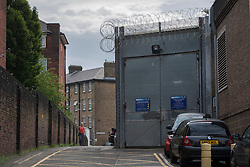 "© licensed to London News Pictures. London, UK 28/06/2012. HM Pentonville Prison, from where John Massey escaped. John Massey was sentenced to life imprisonment for murdering a man in a pub in Hackney in 1975. He escaped from Pentonville prison in Islington at around 6.30pm on Wednesday. Scotland Yard said he is considered ""potentially dangerous"" and should not be approached.. Photo credit: Tolga Akmen/LNP"