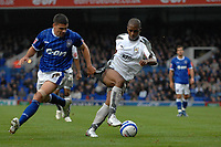 Photo: Ashley Pickering/Sportsbeat Images.<br /> Ipswich Town v Bristol City. Coca Cola Championship. 10/11/2007.<br /> Darren Byfield of Bristiol (R) tangles with Jonathan Walters of Ipswich