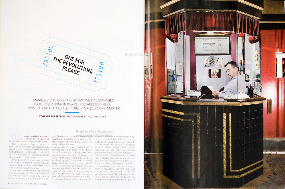 Mario Livich for Report on Small Business magazine
