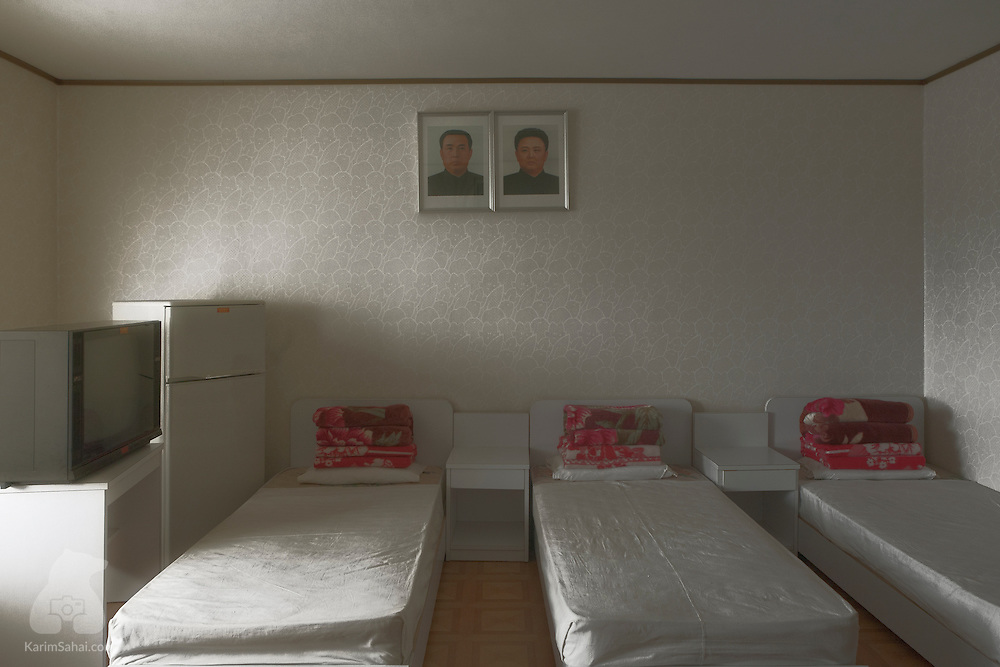 Students' bedroom at the Songdowon International Children's Union Camp, Wonsan, North Korea