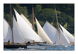 Class 2 starline with Ayrshire Lass 1887 Gaff Cutter, Oblio 2007 Gaff Cutter and Fyne  1889  Gaff Cutter..Mixed and bright conditions for the fleet as they race from Kames to Largs...* The Fife Yachts are one of the world's most prestigious group of Classic .yachts and this will be the third private regatta following the success of the 98, .and 03 events.  .A pilgrimage to their birthplace of these historic yachts, the 'Stradivarius' of .sail, from Scotland's pre-eminent yacht designer and builder, William Fife III, .on the Clyde 20th -27th June.   . ..More information is available on the website: www.fiferegatta.com . .Press office contact: 01475 689100         Lynda Melvin or Paul Jeffes