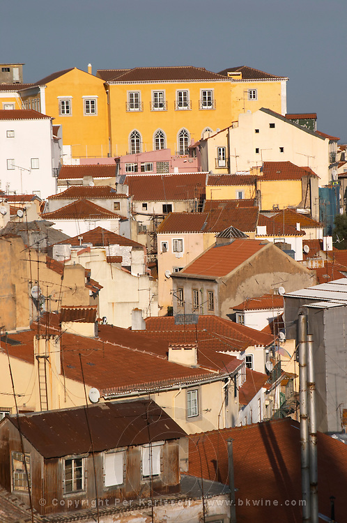 roof tops miradouro viewpoint alfama district lisbon portugal