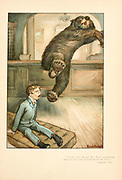The Bear in the room From the book Mr. Munchausen; being a true account of some of the recent adventures beyond the Styx of the late Hieronymus Carl Friedrich, sometime Baron Munchausen of Bodenwerder, as originally reported for the Sunday edition of the Gehenna Gazette by its special interviewer the late Mr. Ananias formerly of Jerusalem and now first transcribed from the columns of that journal. by Bangs, John Kendrick, (1862-1922) Published in Boston by Noyes, Platt & company 1901 with artwork by Peter Newell