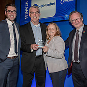 Netnumber winner of the Best Network Security Technology of the 5G Awards ceremony at Drapers' Hall, on 12 June 2019, London, UK.