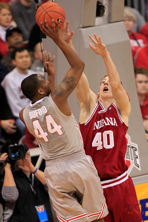 15 January 2012: Indiana Forward Cody Zeller (40)  as the Indiana Hoosiers played the Ohio State University Buckeyes in a college basketball game in Columbus, OH.