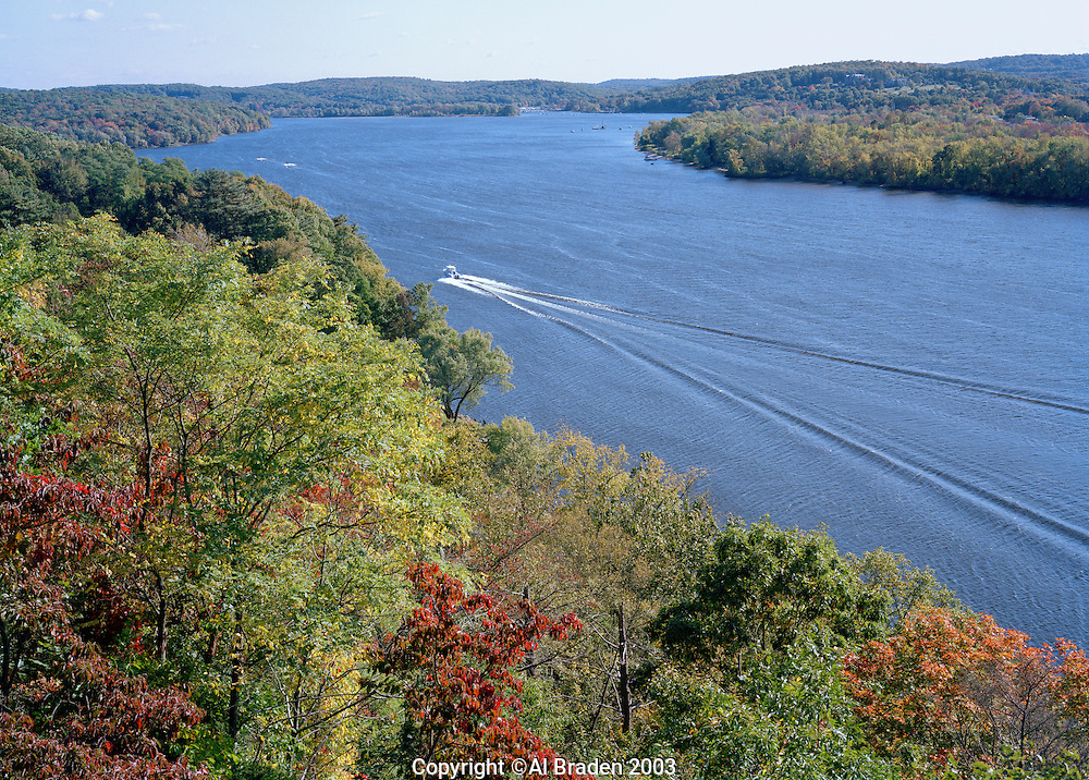 View of Connecticut River from Gillette Castle State Park, Hadlyme, CT.