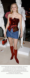 Social figure MISS ANOUSHKA DE GEORGIOU, at a party in London on 11th February 2003.PHC 105