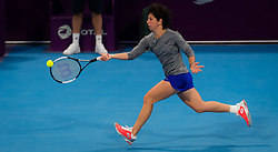 February 9, 2019 - Doha, QATAR - Carla Suarez Navarro of Spain practices ahead of the 2019 Qatar Total Open WTA Premier tennis tournament (Credit Image: © AFP7 via ZUMA Wire)