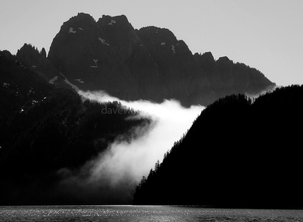Fog rolling over the hills, Kenai Fjords National Park, Alaska. ..