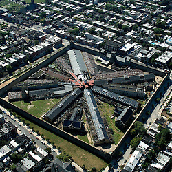 Aerial photograph, Eastern State Penitentiary