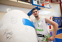 Ziga Dimec during Open day of Slovenian U20 National basketball team before the European Chmpionship in Slovenia, on July 9, 2012 in Domzale, Slovenia.  (Photo by Vid Ponikvar / Sportida.com)
