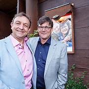 NLD/Amsterdam/20150511 - Aankomst Jon van Eerd en Ton Fieren vieren hun 35jarig partnerschap,