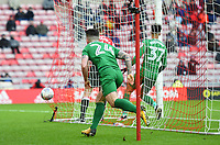 Preston's Sean Maguire celebrates scoring the opening goal  <br /> <br /> Photographer Jonathan Hobley/CameraSport<br /> <br /> The EFL Sky Bet Championship - Sunderland v Preston North End - Saturday 17th March 2018 - Stadium of Light - Sunderland<br /> <br /> World Copyright © 2018 CameraSport. All rights reserved. 43 Linden Ave. Countesthorpe. Leicester. England. LE8 5PG - Tel: +44 (0) 116 277 4147 - admin@camerasport.com - www.camerasport.com