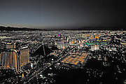 Night helicopter flight, Las Vegas, Nevada