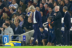 West Ham United manager Manuel Pellegrini looks dejected during the Premier League match at the AMEX Stadium, Brighton.