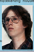 identity card head and shoulder portrait of young adult man 1980s