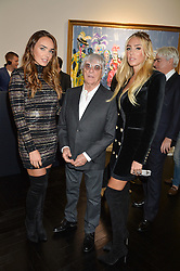 Left to right, TAMARA ECCLESTONE -RUTLAND, her father BERNIE ECCLESTONE and PETRA STUNT at a party to celebrate the launch of the Maddox Gallery at 9 Maddox Street, London on 3rd December 2015.