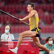 TOKYO, JAPAN August 3:   Oleg Zernikel of Germany in action during the Pole Vault Final for Men at the Olympic Stadium during the Tokyo 2020 Summer Olympic Games on August 3rd, 2021 in Tokyo, Japan. (Photo by Tim Clayton/Corbis via Getty Images)