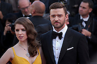 Anna Kendrick and Justin Timberlake  at the gala screening for Woody Allen's film Café Society and opening ceremony at the 69th Cannes Film Festival, Wednesday 11th May 2016, Cannes, France. Photography: Doreen Kennedy