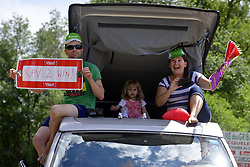 July 4, 2017 - Mondorf Les Bains / Vittel, Luxembourg / France - VITTEL, FRANCE - JULY 4 : Some Tour de France and CAVENDISH Mark (GBR) Rider of Team Dimension Data fans on the side of the road during stage 4 of the 104th edition of the 2017 Tour de France cycling race, a stage of 207.5 kms between Mondorf-Les-Bains and Vittel on July 04, 2017 in Vittel, France, 4/07/2017 (Credit Image: © Panoramic via ZUMA Press)