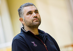 Boris Denic, head coach of Slovenia ® during friendly handball match between National Teams of Slovenia and F.Y.R. of Macedonia on December 28, 2013 in Sports hall Polaj, Trbovlje, Slovenia. Photo by Vid Ponikvar / Sportida