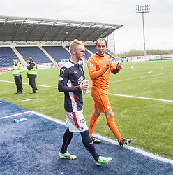 Falkirk's players at the end. <br /> Falkirk 0 v 3 Hibernian, Scottish Championship game played at The Falkirk Stadium 2/5/2015.