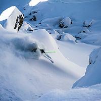 Matthias Ruckerl, Verbier, Switzerland, shot during the Voelkl ski shoot 2015