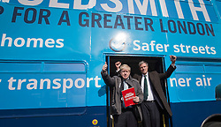 © Licensed to London News Pictures. 03/03/2016. London, UK.  Mayor of London Boris Johnson  (L) joins Conservative candidate for Mayor Zac Goldsmith on the campaign trail in Sidcup. Photo credit: Peter Macdiarmid/LNP