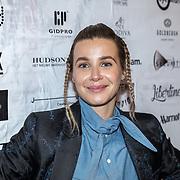 NLD/Amsterdam/20180906 - Inloop AFW 2018, David Laport, actrice Victoria Koblenko