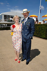 Actor PETER BOWLES and his wife SUE at the 4th day of the Glorious Goodwood racing festival 2007 held at Goodwood Racecourse, West Sussex on 3rd August 2007.<br /><br />NON EXCLUSIVE - WORLD RIGHTS